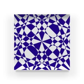 青・模様 Acrylic Block