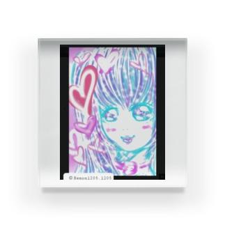 かわゆす♥️ハート女子ちゃん Acrylic Block