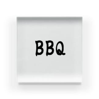 夏、肉、BBQ、バーベキュー Acrylic Block