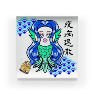アマビエ(ブルー)ブロック Acrylic Block