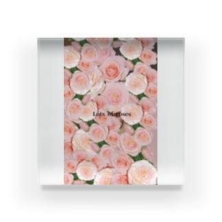 Lots of roses Acrylic Block
