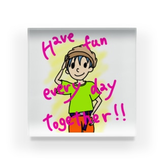 Have fun every day together! Acrylic Block