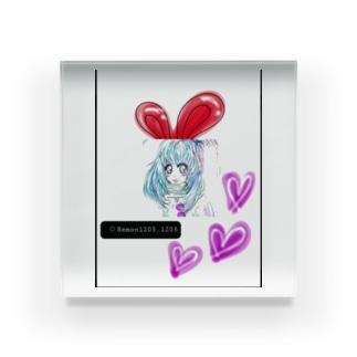 うさぎ♥️女子 Acrylic Block