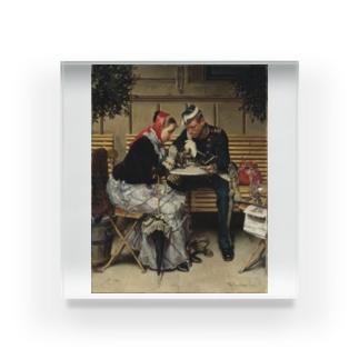 ヴィルヘルム・ローゼンスタンド《コペンハーゲン、カフェ・ア・ポルタの外で》 Acrylic Block