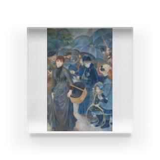 世界の絵画アートグッズのピエール=オーギュスト・ルノワール 《雨傘》 Acrylic Block
