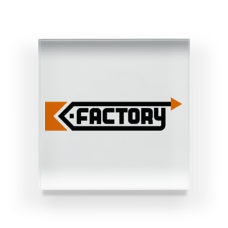 kimchinのK-FACTORY ロゴ Acrylic Block