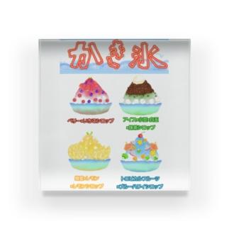 かき氷メニュー Acrylic Block