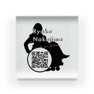 Logo w/ QR code Acrylic Block