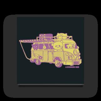 おやまくまオフィシャルWEBSHOP:SUZURI店のドライブおやまくま アクリルブロック