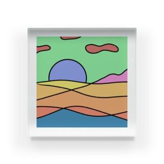 背景 Acrylic Block