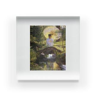 リラ・キャボット・ペリー 《日本庭園で》 Acrylic Block
