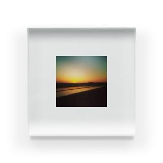 田舎 風景(氏名) Acrylic Block