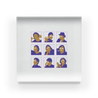 まり探 Acrylic Block