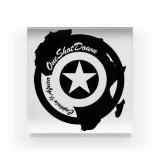 キャプテン☆アフリカ アフリカンシールド(シングルカラー) アクリルブロック
