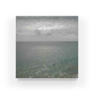 雲と海と空 Acrylic Block