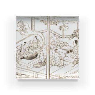 夢応の鯉魚(裏写り低減版)M Acrylic Block