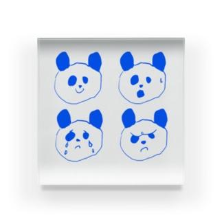 ゆるぱんだの四面相(パンダ) Acrylic Block