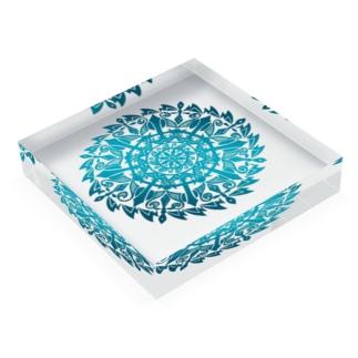 波の曼荼羅 Acrylic Block