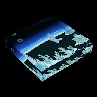 植田たてりの夜は水たまり Acrylic Blockの平置き