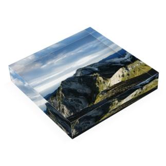 秋の白馬岳 Acrylic Block