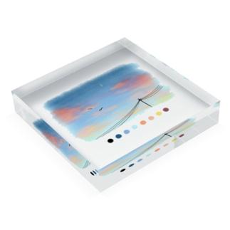 夏の夕暮れのカラーパレット Acrylic Block