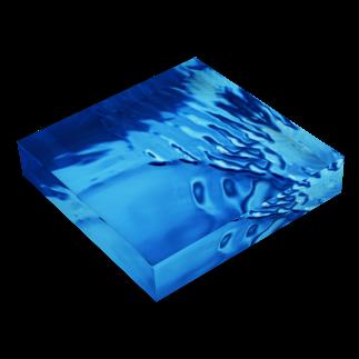 BUSSANのYOROZUYAのSAZANAMIBLOCK Acrylic Blockの平置き