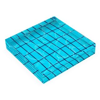 夏のプール Acrylic Block
