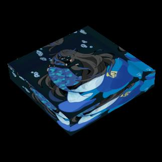 一束の青い椿から生まれた人魚 Acrylic Block
