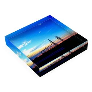 夕方 Acrylic Block