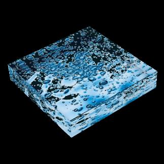 えび ☞ 液体彫刻の液体彫刻 Acrylic Blockの平置き