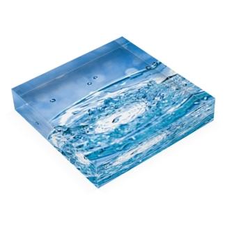 液体彫刻 Acrylic Block