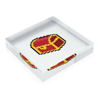 semioticaのHAPPY BOX Acrylic Blockの平置き