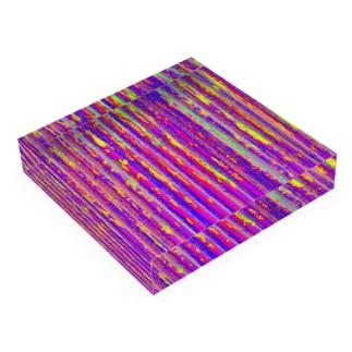 Flexible stripe 02 Acrylic Block