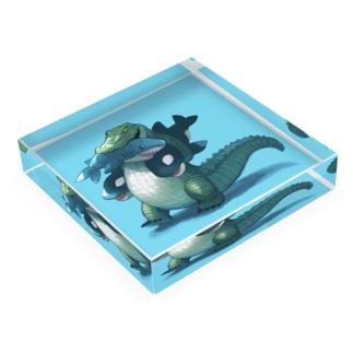 サメとシャチのぬいぐるみ Acrylic Block