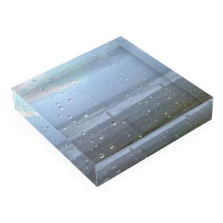 9月の雨の海 Acrylic Block