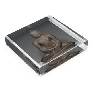 Buddha Shakyamuni Seated in Meditation (Dhyanamudra), Chola period, about 12th century |  Acrylic Block