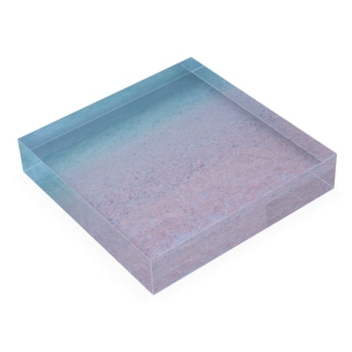 small020の水の色 Acrylic Blockの平置き