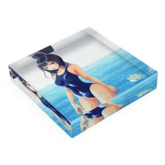 競泳水着女子03 Acrylic Block