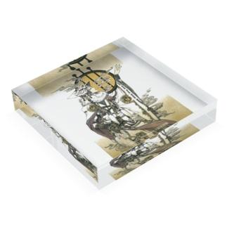 狐の白巫士の円舞 Acrylic Block