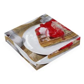 Strawberry waffle  Acrylic Block