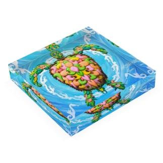 MAD TURTLE Acrylic Block