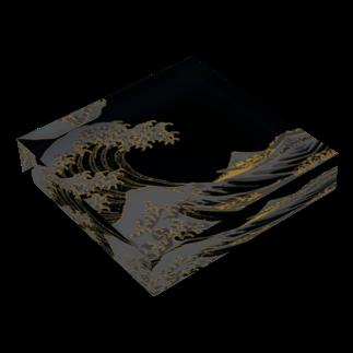 和樂web公式ショップの冨嶽三十六景 神奈川沖浪裏 Acrylic Blockの平置き