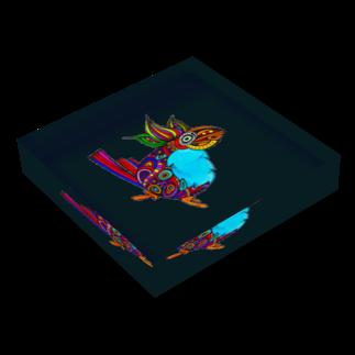 ピエトロの柄鳥 Acrylic Blockの平置き