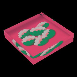 Ran Kobayashiのもくもくした花 Acrylic Blockの平置き
