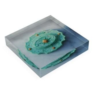 fractal green Acrylic Block