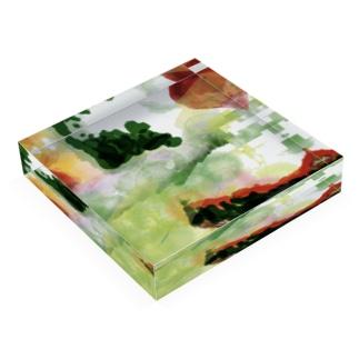 strawberry in oze Acrylic Block