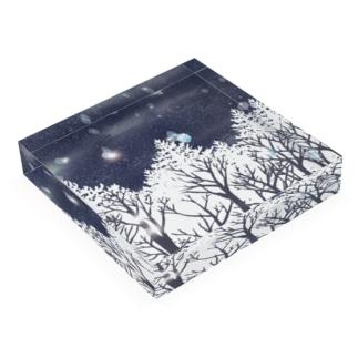 雪の輝き Acrylic Block