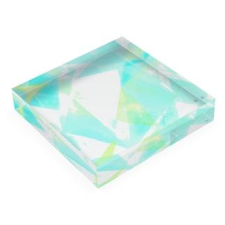 water color aqua 2019 Acrylic Block