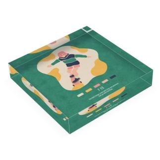 【2019.07.13】新井リオの英語日記グッズ Acrylic Block