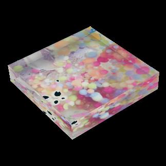 hugging love +《ハギング ラブ プラス》の甘くて冷たい惑星 Acrylic Blockの平置き